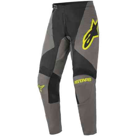 Pantaloni Cross Fluid Speed Grigio Scuro Giallo Alpinestars