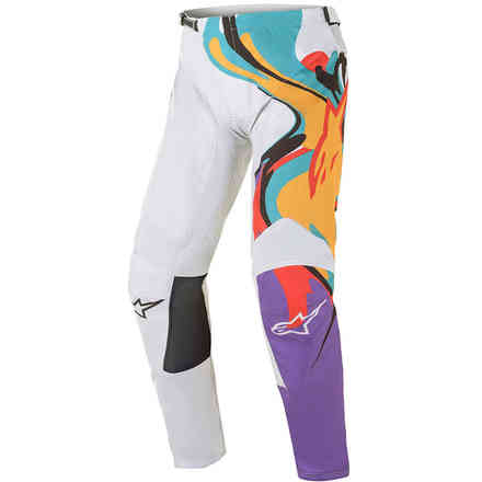 Pantaloni Cross Racer Flagship Bianco Multicolore Alpinestars