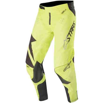 Pantaloni cross Techstar Factory nero giallo fluo Alpinestars