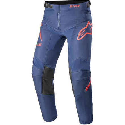 Pantaloni Cross Youth Racer Braap Blu Scuro Rosso Alpinestars