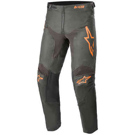 Pantaloni Cross Youth Racer Compass Antracite Arancione Alpinestars