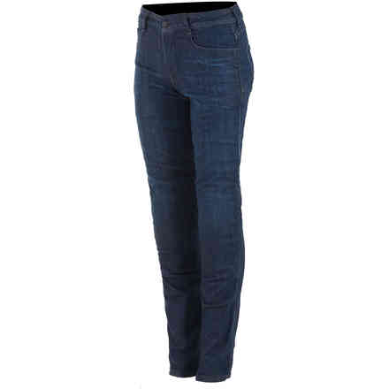 Pantaloni Daisy V2 Riding Denim Rinse Plus Blu Alpinestars