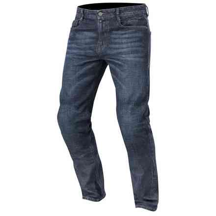 Pantaloni Duple Denim with Kevlar Rough Blue Alpinestars