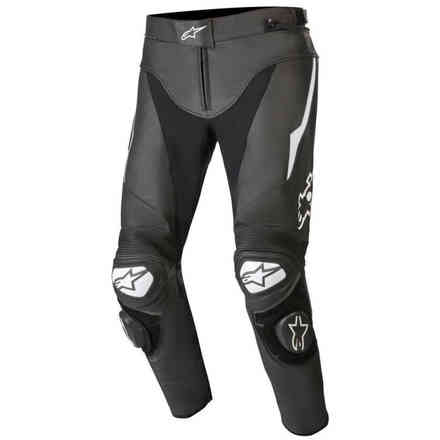 Pantaloni Track V2 Leather Nero Bianco Alpinestars