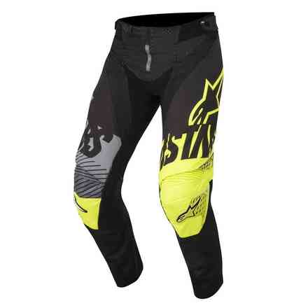 Pantaloni Youth Racer Screamer 2018 nero giallo fluo grigio Alpinestars