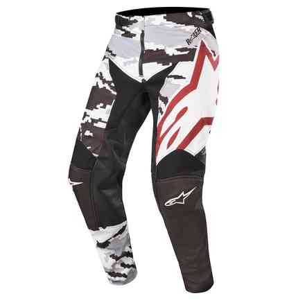 Pants Racer Tactical Black Gray Camo Burgundy Alpinestars