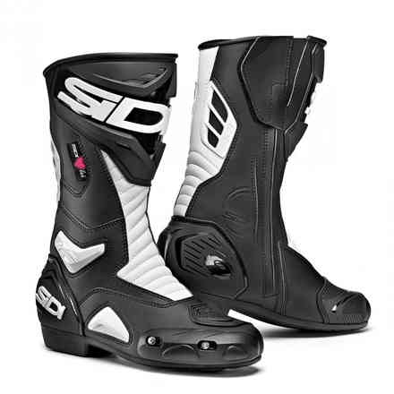Performer Stiefel Lei Black White Sidi