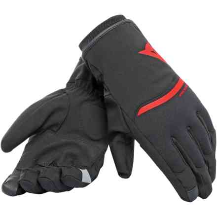 Plaza 2 D-Dry gloves black red Dainese