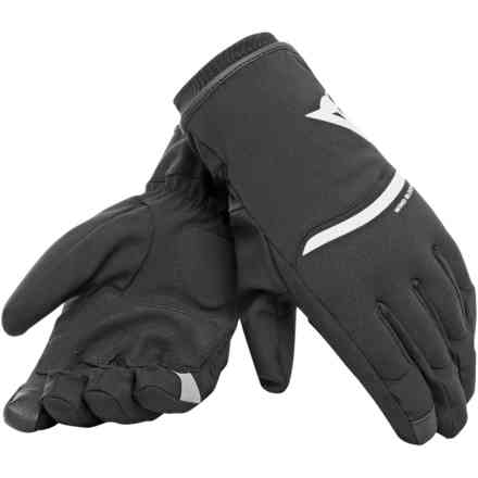 Plaza 2 D-Dry Gloves black white Dainese
