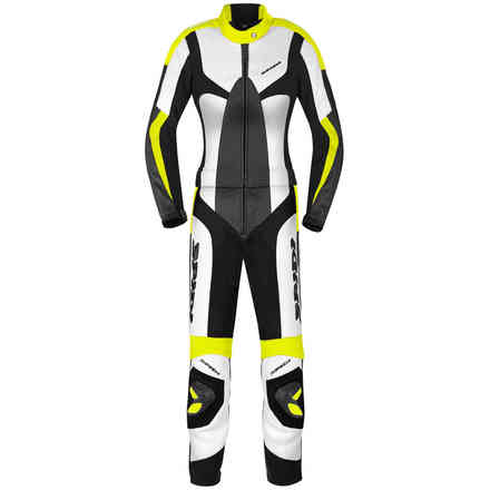 Poison leather suit women Blk yellow fluo Spidi