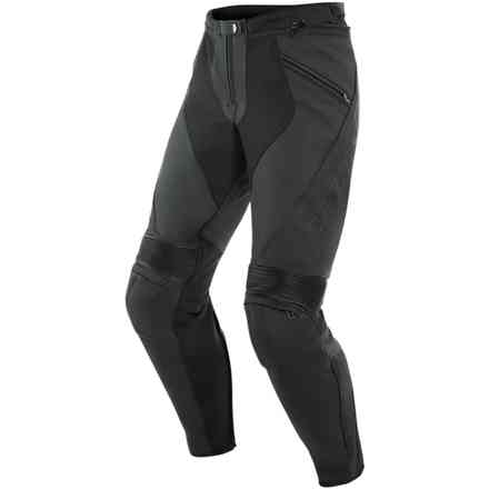 Pony 3 leather pant matt black Dainese