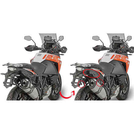 Portavaligie laterale KTM 1290 Super Adventure  Givi