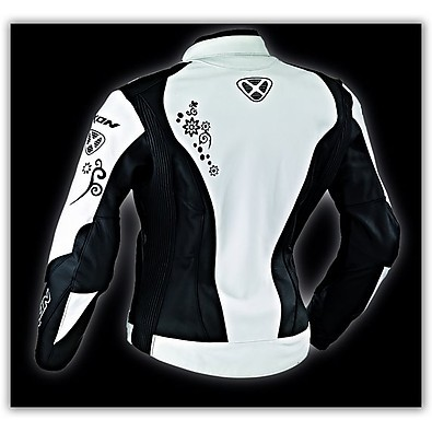 Prima VX Black/White  Leather Lady Jacket Ixon