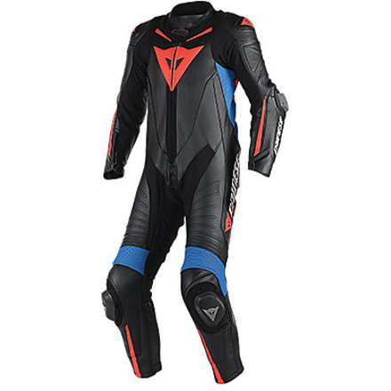Professional perforated suit Laguna Seca D1 black-black-sky blue Dainese