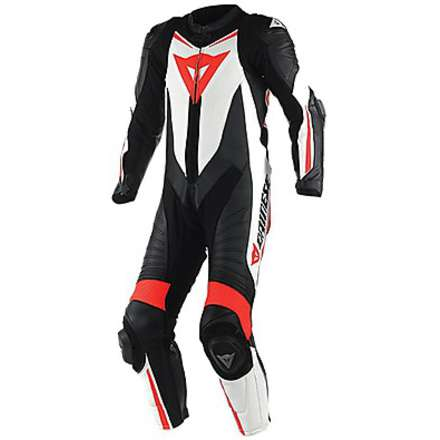 Professional perforated suit Laguna Seca D1 black-white-red fluo Dainese