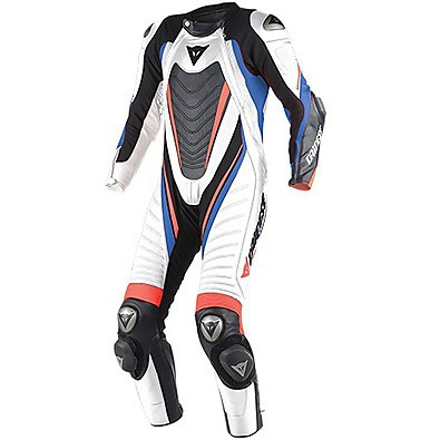 Professional suit Aero Evo D1 white-black-blue sky Dainese