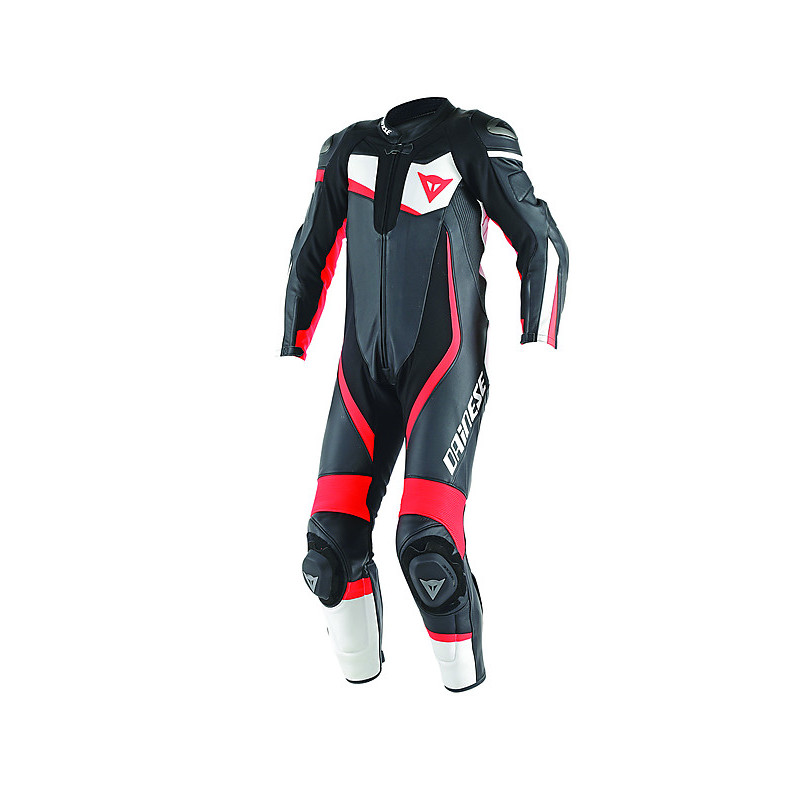 Professional Suit perforated Veloster Black-White-Red Fluo Dainese