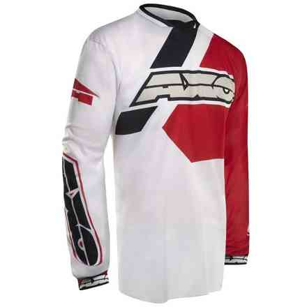 Pullover Trans-Am White/Red Axo