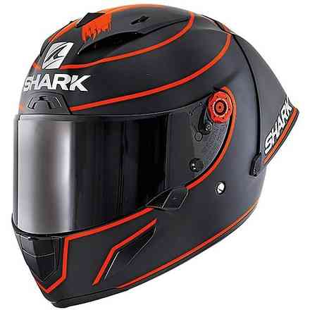 Race-R Pro Carbon Gp helmet replica Lorenzo WT 2019 mat black red Shark
