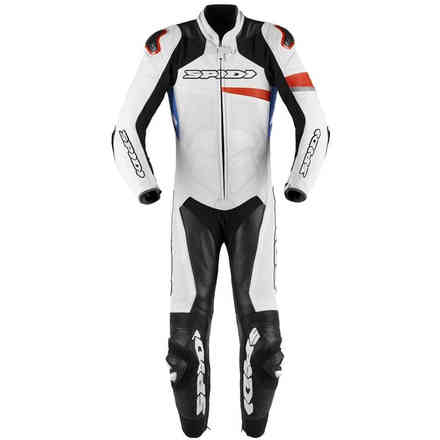 Race Warrior Perforated suit white red blue Spidi