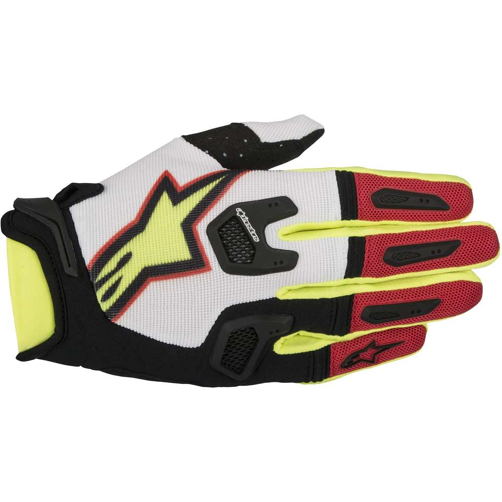 Racefend  Gloves white red yellow Alpinestars