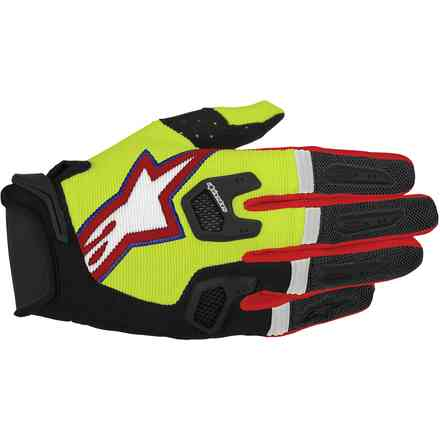 Racefend  Gloves yellow black red Alpinestars