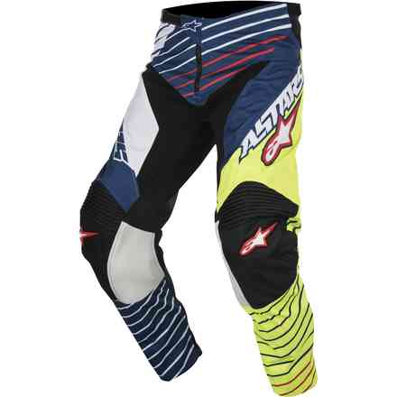 Racer Braap 2017 Pants  yellow-white-blue Alpinestars