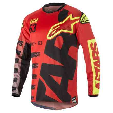 Racer Braap Jersey Red-black-yellow fluo Alpinestars