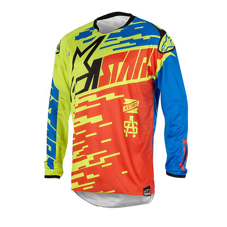 Racer Braap t-shirt cross 2016 rouge-bleu Alpinestars