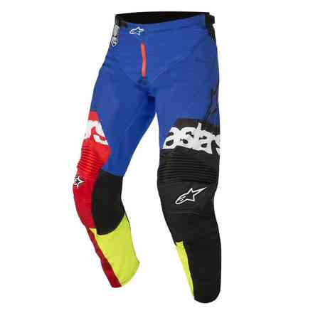 Racer Flagship pant red yellow fluo blue Alpinestars