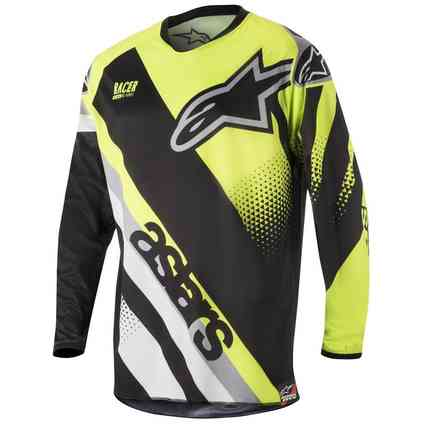 Racer Supermatic 2018 jersey black-yellow Alpinestars