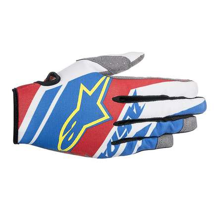 Racer Supermatic cross gloves 2016 blue-red-white Alpinestars
