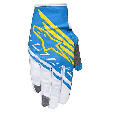 Racer Supermatic gloves 2015 blue-white Alpinestars