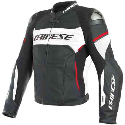Racing 3 D-Air jacket perforated black white red Dainese