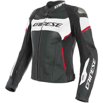 Racing 3 D-Air Lady jacket black white red Dainese