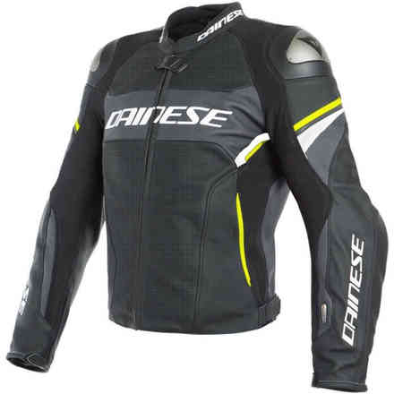 Racing 3 D-Air Perforated Matt black grey carbon yellow fluo Dainese
