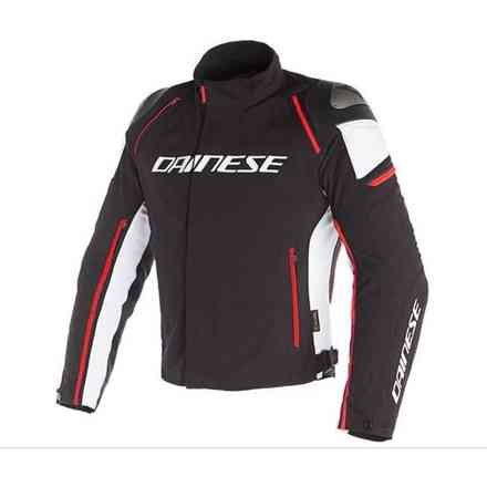 Racing 3 D-Dry jacket black white fluo red Dainese