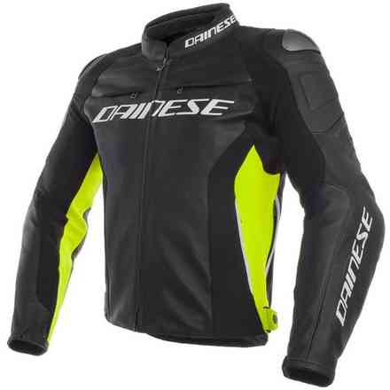 Racing 3 jacket black yellow fluo Dainese