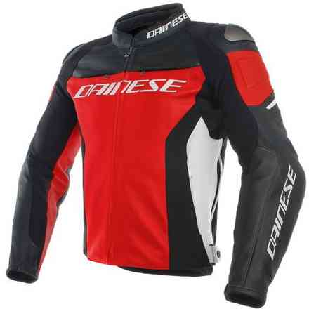 Racing 3 jacket red black white Dainese