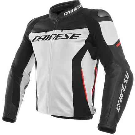 Racing 3 jackt white black red Dainese