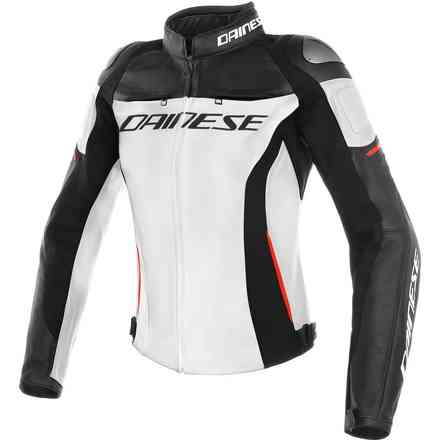 Racing 3 Lady jacket white black red Dainese