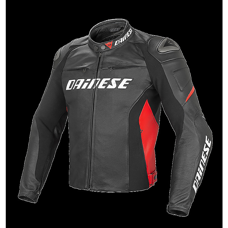 Racing D1 Jacket perforated black-red Dainese