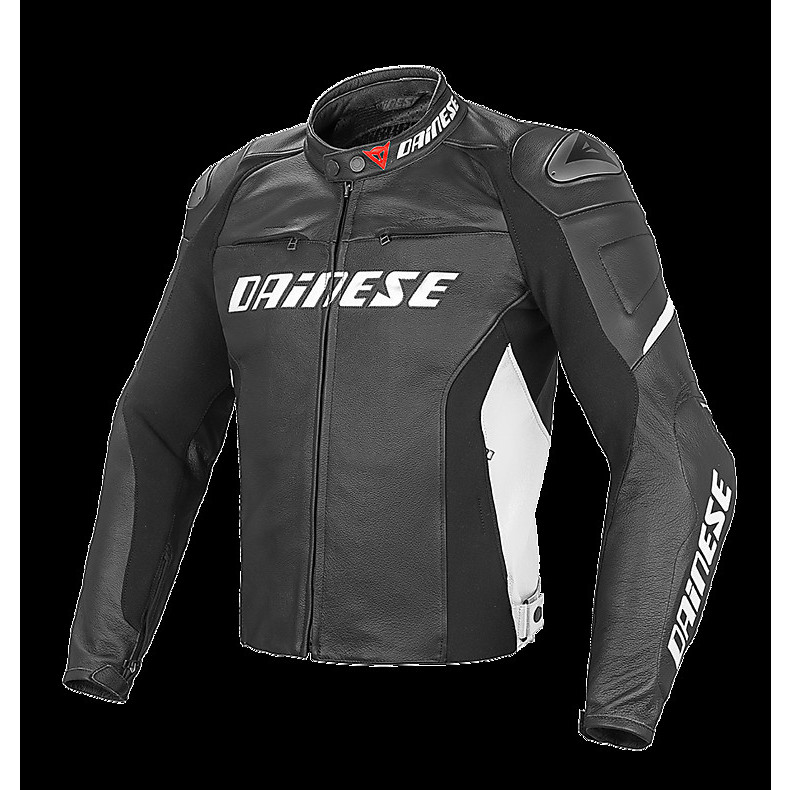 Racing D1 Jacket perforated black-white Dainese