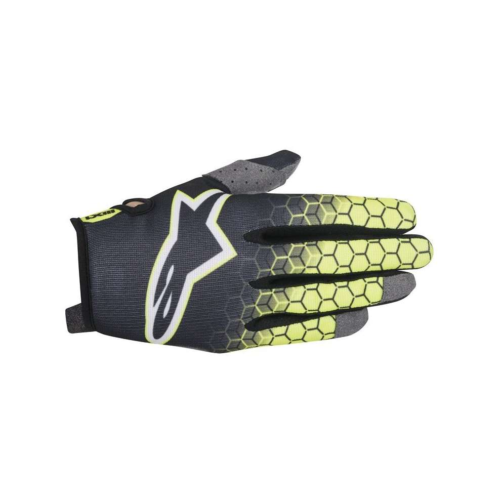 Radar Flight  Gloves  anthracyte fluo yellow Alpinestars