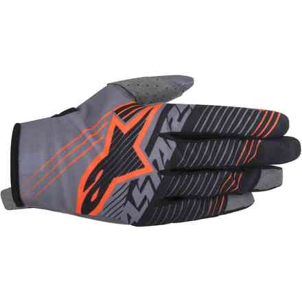 Radar Tracker Gloves  grey black orange Alpinestars