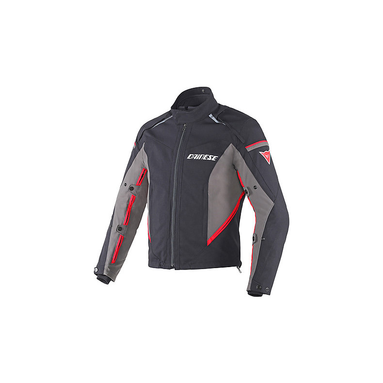 Rainsun veste noir-dark gull gray-rouge Dainese