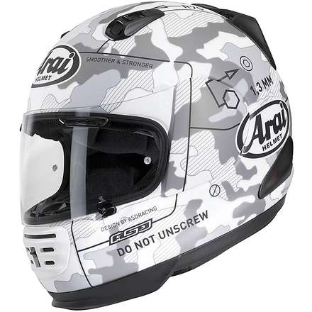 Rebel Command White Helmet Arai