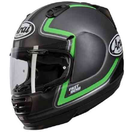 Rebel Trophy Green Helmet Arai