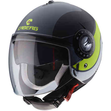 Riviera V3 Sway helmet Matt anthracyte black yellow fluo Caberg