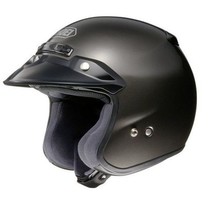 Rj Platinum-r Anthracite Helmet Shoei